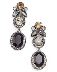 Givenchy - Metallic Jeweled Drop Earrings - Hematite/ Jet Mix - Lyst
