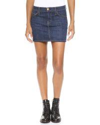 Current/Elliott Blue The 5 Pocket Miniskirt - Bower