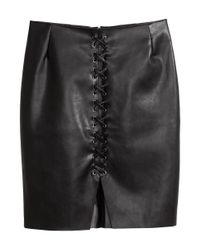 H&M | Black Skirt With Lacing | Lyst