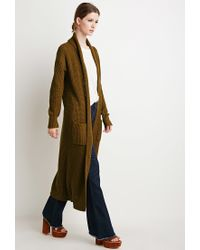 Forever 21 | Brown Contemporary Maxi Cardigan | Lyst