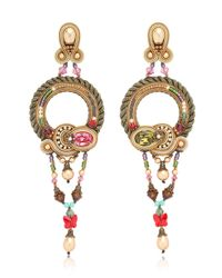Dori Csengeri | Metallic Baroque Earrings | Lyst