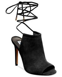 Steve Madden | Black Sophie Ankle Wrapped Sandals | Lyst
