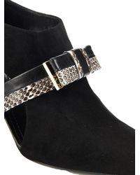 Nicholas Kirkwood - Black Snakeskin-Bow Suede Ankle Boots - Lyst