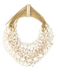 Rosantica - Metallic Pearl Necklace - Lyst