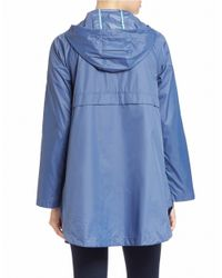 Bernardo Blue Packable Hooded Anorak