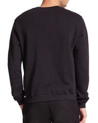 MSGM - Black Plaid Logo Sweatshirt for Men - Lyst