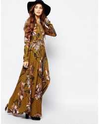 Free People | Green First Kiss Maxi Dress In Large Floral Print | Lyst