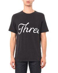 Rag & Bone Black Embroidered Three T-Shirt for men