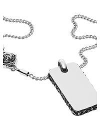 DIESEL - Metallic Necklace Dx0898 for Men - Lyst