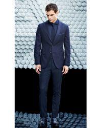 BOSS Blue 'pocket Square 33 X 33' | Reversible Wool Pocket Square for men