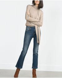 Zara | Metallic Bow Collar Sweater | Lyst