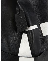 McQ - Black Oracle Leather Backpack for Men - Lyst