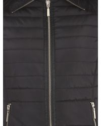 Jane Norman - Black Fur Collar Short Padded Coat - Lyst