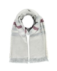 Forever 21 | Gray Stripe-pattern Frayed Scarf You've Been Added To The Waitlist | Lyst