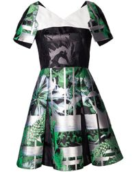 Peter Pilotto - Green Cassandra Short Dress - Lyst