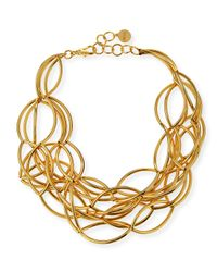 Nest Metallic Gold-plated Twisted Collar Necklace
