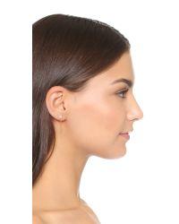 Shashi - Metallic Solitaire Kelly Earrings - Lyst