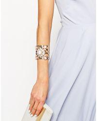 Lipsy | Pink Stone Cuff Bracelet | Lyst