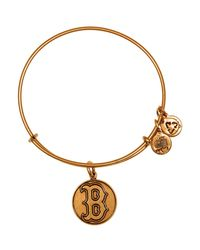 ALEX AND ANI - Metallic Boston Red Sox Cap Logo Expandable Wire Bangle - Lyst