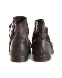 H by Hudson - Freddie Calf Boot In Black for Men - Lyst