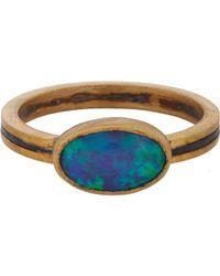Judy Geib - Metallic Opal, Gold & Oxidized Silver Ring - Lyst