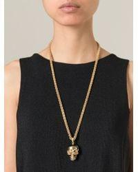 Alexander McQueen | Metallic Puzzle Skull Pendant Necklace | Lyst