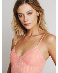 Free People - Pink Fp One Geo Lace Bralette - Lyst