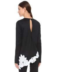 Antonio Berardi - Black Long Sleeve Top - Lyst