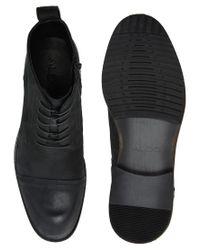 ALDO Black Waldram Leather Boots for men