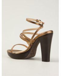 A.F.Vandevorst Metallic 141X3060 Strappy Sandals