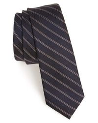 Calibrate | Black 'lomkok' Stripe Silk Tie for Men | Lyst