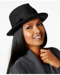 Nine West | Black Felt Wide Crown Fedora | Lyst