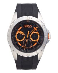 BOSS Orange - Metallic 'berlin' Multifunction Silicone Strap Watch for Men - Lyst