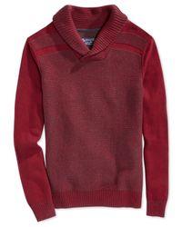 American Rag | Textured-strip Shawl Collar Sweater for Men | Lyst