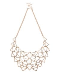 Oasis | Metallic Linked Triangle Necklace | Lyst