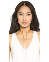 Vanessa Mooney - Metallic The Stardust Choker Necklace Gold - Lyst