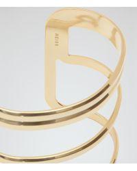 Reiss | Metallic Eli Cage-effect Cuff | Lyst