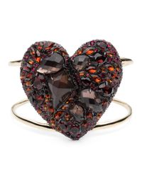 Alexis Bittar - Red Encrusted Black Cherry Heart Cuff You Might Also Like - Lyst