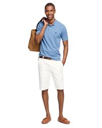 "Brooks Brothers | White Garment-dyed Plain-front 11"" Twill Bermuda Shorts for Men 
