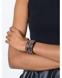 Givenchy Brown Studded Bracelet
