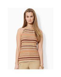 Lauren by Ralph Lauren - Brown Serape-Striped Halter Top - Lyst