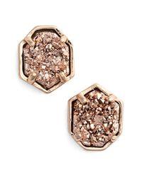Kendra Scott - Metallic 'logan' Stud Earrings - Lyst