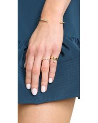 Elizabeth and James Metallic Jean Ring - Gold/Clear