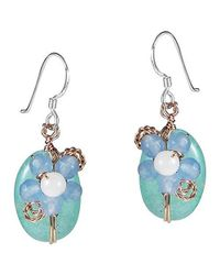 Aeravida | Blue Sweet Daisy Aventurine Floral Nest Earrings-sty1 | Lyst