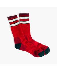 J.Crew Red Darn Tough Vermont Double-striped Socks for men