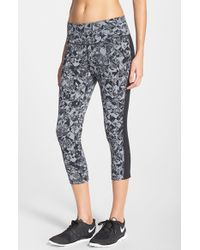 Nike | Gray 'legendary - Jewels' Print Dri-fit Capris | Lyst