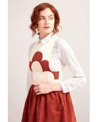 TOPSHOP Brown Rising Flower Dress By Sister Jane