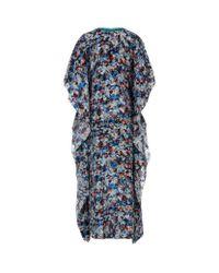 Saloni Multicolor Zoe Embellished Kaftan Gown