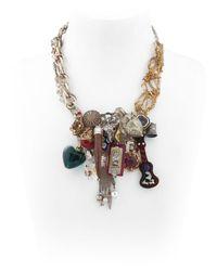 Maria Zureta | Multicolor Multi Pendant & Chain Necklace | Lyst