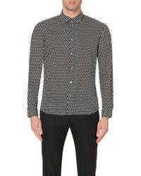 Marc By Marc Jacobs Black Shrunken-fit Cotton Shirt - For Men for men